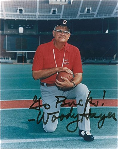 Woody Hayes signed autographed reprint 8 x 10 photo Ohio State (Hayes Signed Photo)