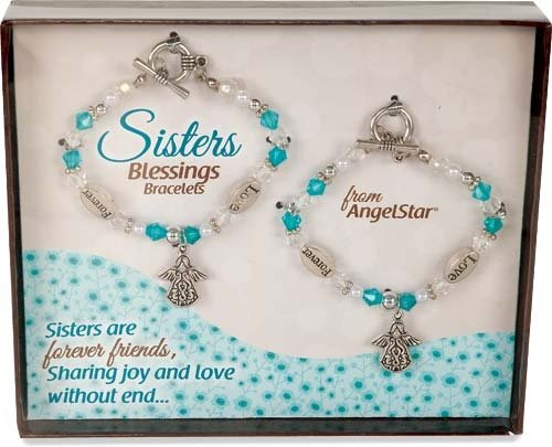AngelStar 19243 Blessings Bracelets, 6-1/2 to 7-Inch, Sis...