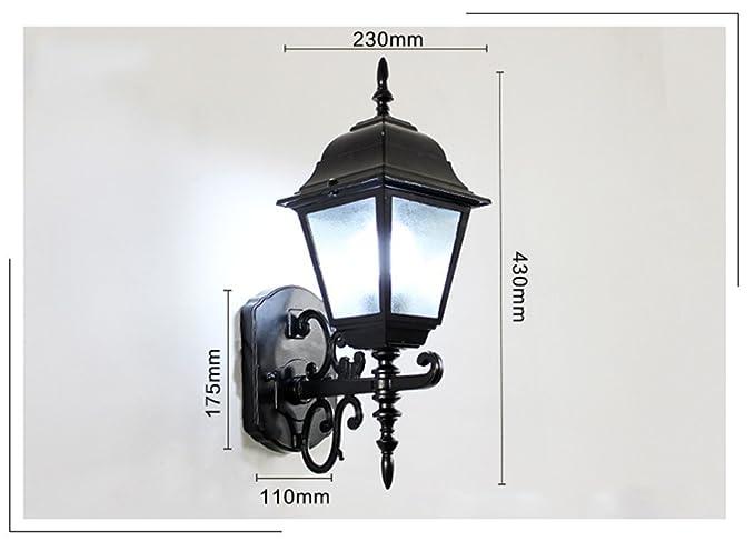 Retro interno esterno lampada da parete lampada da giardino in