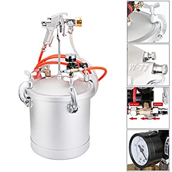 Kit completo de sistema de pintado por pulverización, olla de alta presión de acero inoxidable con ...