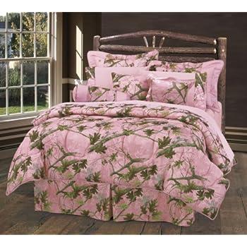 Amazon Com Hiend Accents Oak Camo Comforter Set Queen