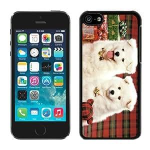 Popular Design Iphone 5C Case Christmas Doggies Black iPhone 5C Case 1