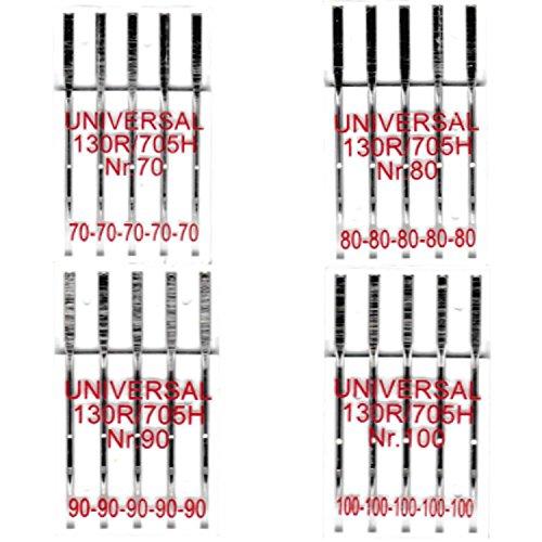 BIG-SAM - Universal Nähmaschinennadeln - 130R/705H - geschliffener Flachkolben - einzeln oder als Set erhältlich (4er Set 70,80,90 & 100)
