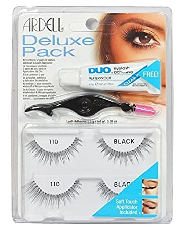 a1a2c3043bb Image Unavailable. Image not available for. Color: Ardell Eye Lash 110  Black Deluxe Pack ...