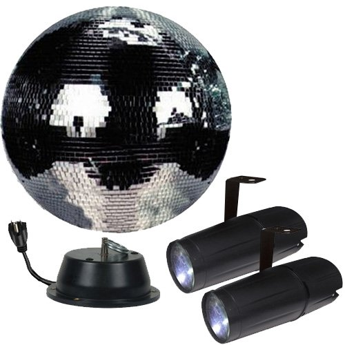 16'' Mirror Ball Complete Party Kit with 2 LED Pinspots and Motor - Adkins Professional Lighting by Adkins Professional lighting