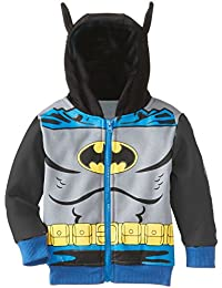 Janeyer Children Boys Fall Winter Bat Man Sweater Hoodies Outwear Jacket