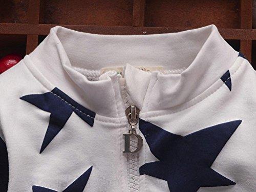 Omiky® Kleinkind-Baby-Mädchen-Jungen-Stern-Druck-Oberseiten-beiläufiger Kleidung-Mantel Weiß
