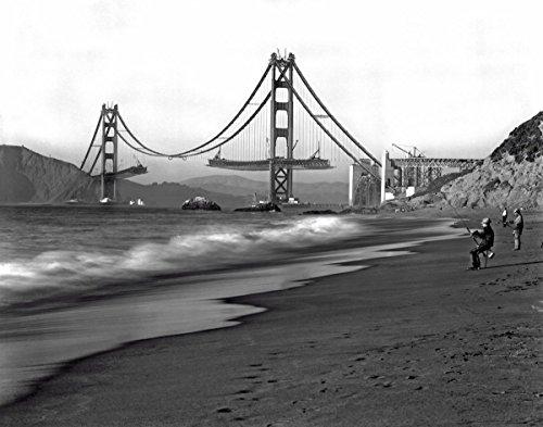 8 x 10 Photo Golden Gate Bridge Under Construction