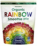 Organic Rainbow Smoothie Mix - Fruit And Vegetable Superfood Supplement. Fill The Nutrient Gaps In Your Diet With Our Whole Food Plant Based Powder - Nutritional Shake Drink Mix - 200 grams