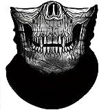 Obacle Skull Mask for Men Women Skull Bandana Skull Half Face Mask 3D Tube Mask Headwear Breathable Sun Mask for Fishing Running Hunting Cycling Motorcycle Bike Hiking Climbing Festival Outdoor Sports