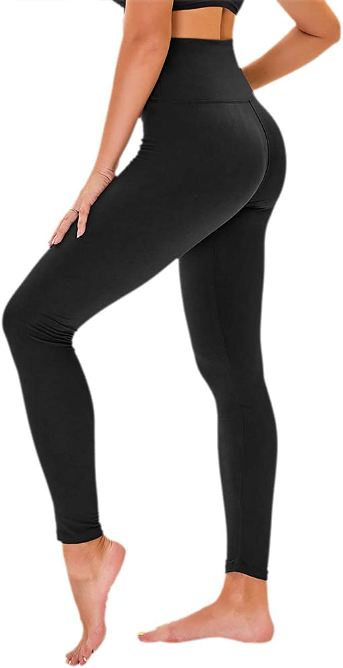 Amazon.com: TNNZEET Leggings de cintura alta para mujer ...