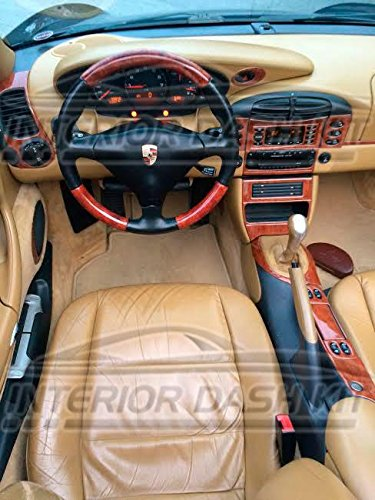 Porsche 911 996 TURBO INTERIOR BURL WOOD DASH TRIM KIT SET 2002 2003 2004