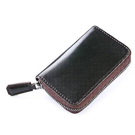 Artículos de cuero hechos a mano-Los hombres de negocio clave tarjeta ligero vintage cepillar