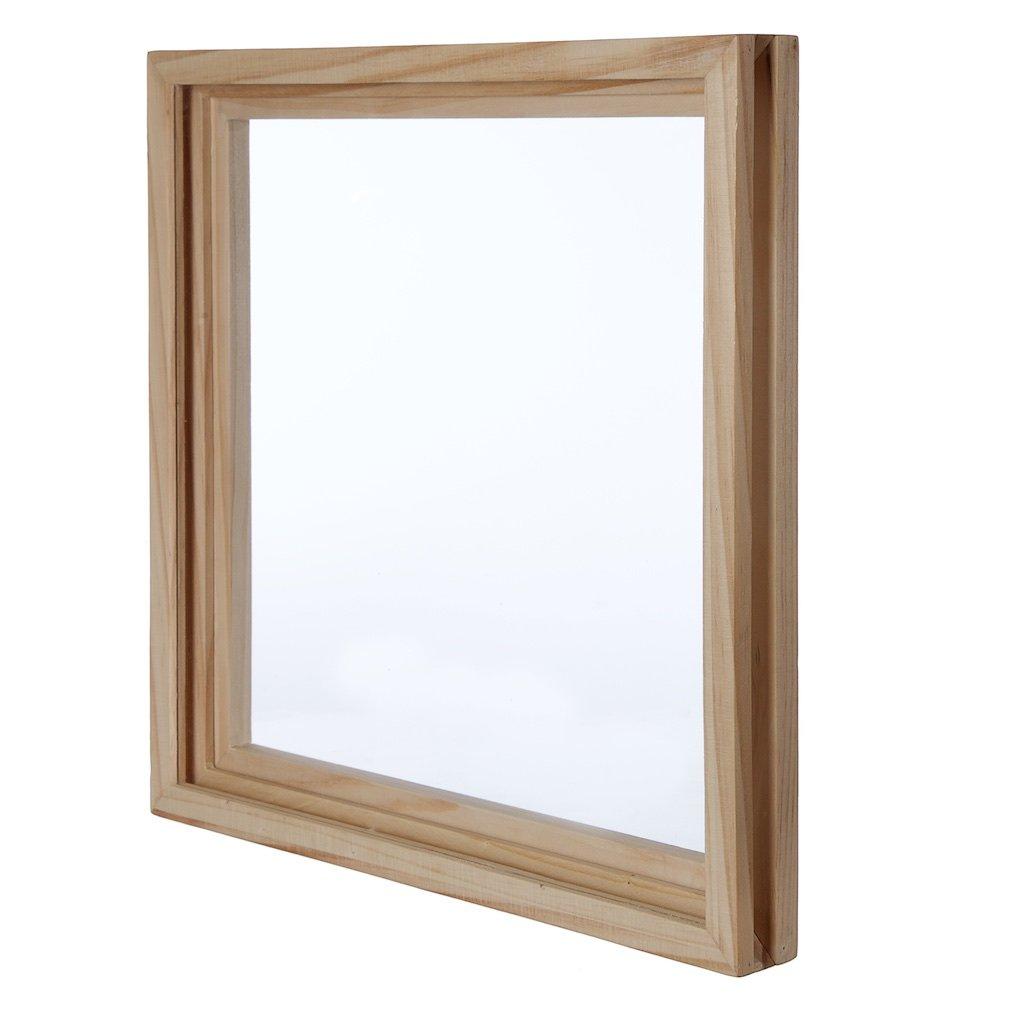 kaiu Disco de vinilo marco - madera maciza con acrílico transparente para mostrar su álbum - innovadora estructura de abrir/cerrar mecanismo para facilidad ...