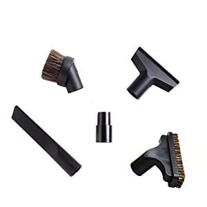 EZ SPARES 5PCS Universal Replacement 32mm & 35mm Vacuum Cleaner Accessories Horsehair Brush Kit for Hoover, Eureka, Royal, Dirt Devil,Kirby, Rainbow Kenmore,Electrolux, Panasonic Shop Vac
