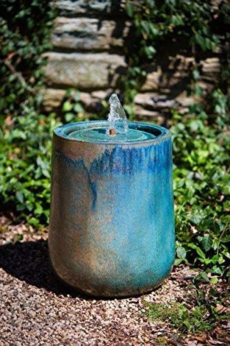 Campania International 144530-4501 Daralis Glazed Fountain, Weathered Copper Finish by Campania International