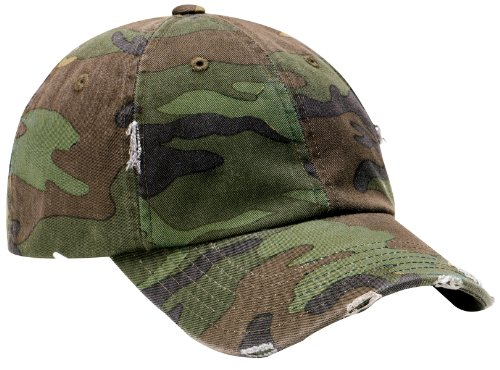 (District Threads - Distressed Cap. DT600 - Camo)