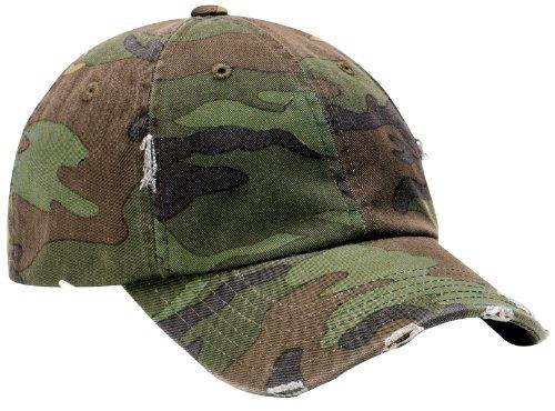 District Threads - Distressed Cap. - Camo - (Camo Hats Wholesale)