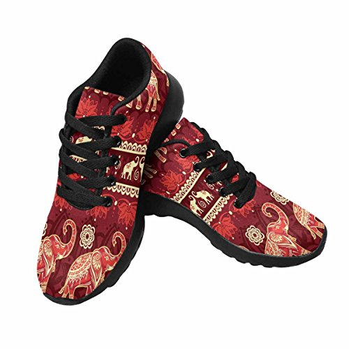 InterestPrint Womens Trail Running Shoes Jogging Lightweight Sports Walking Athletic Sneakers Elephants Multi 1 jfbPL1kpdg