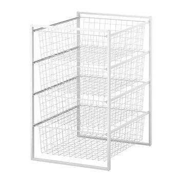 IKEA ANTONIUS - Frame/wire basket, white - 44x54x70 cm: Amazon.co.uk ...