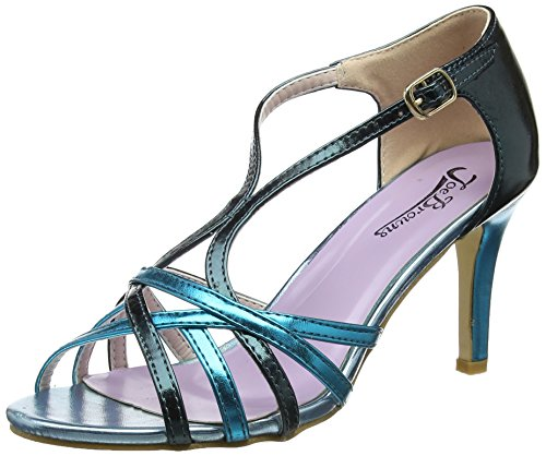 Femme Multi Salomés Browns Strappy Sandals Metallic Joe Bleu Blue Valentino A zYRqq7