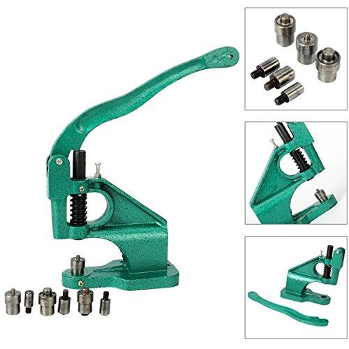 8milelake 3 Die Hand Press Grommet Machine #0#2#4 w/ 1500Pcs Grommets & Eyelet Feeding & Rolling Base by 8MILELAKE (Image #1)
