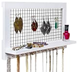 SoCal Buttercup White Jewelry Organizer from Wooden