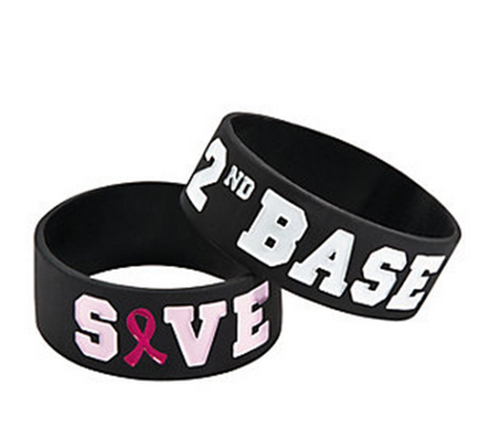 Save Second Base Big Bands (Blk-Pk Writing), 1 doz.
