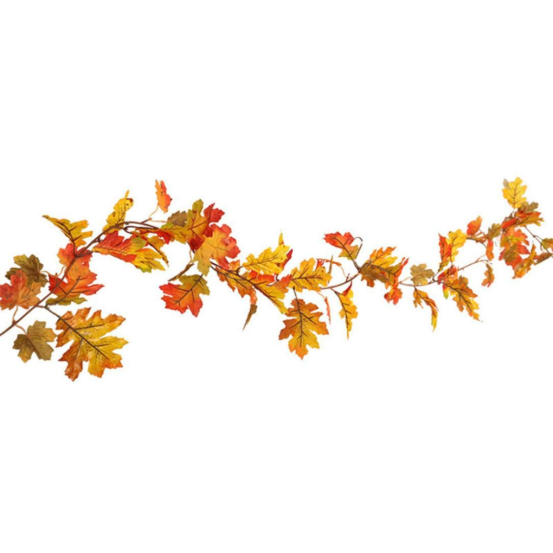 Hatop 1.5M LED Lighted Fall Autumn Pumpkin Maple Leaves Garland Thanksgiving string Decoration Halloween Christmas Home Decor