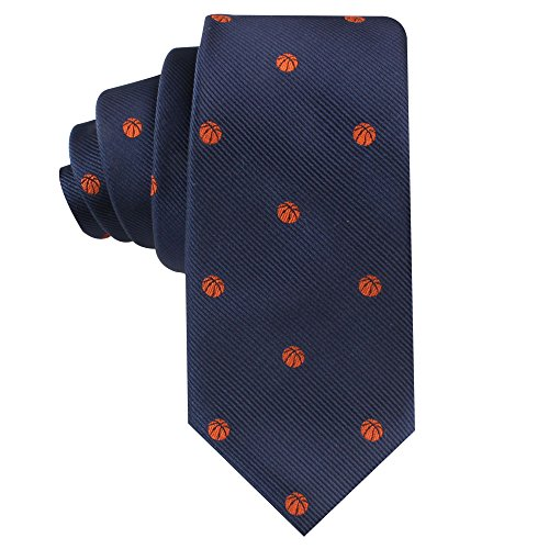 Nba Tie Basketball (Sports Ties | Woven Neckties | Gift for Men | Work Ties for Him | Birthday Gift for Guys (Basketball))