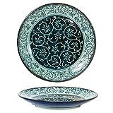 2 Pieces of Japanese 7.5'' Diameter Porcelain Manyo Karakusa Dinnerware Plates