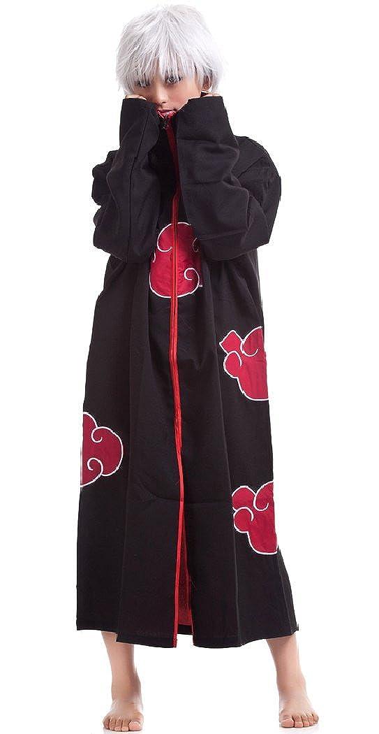 SPJ: Naruto Akatsuki Hokage Cosplay Costume Kimono Style Cloak Anime Halloween
