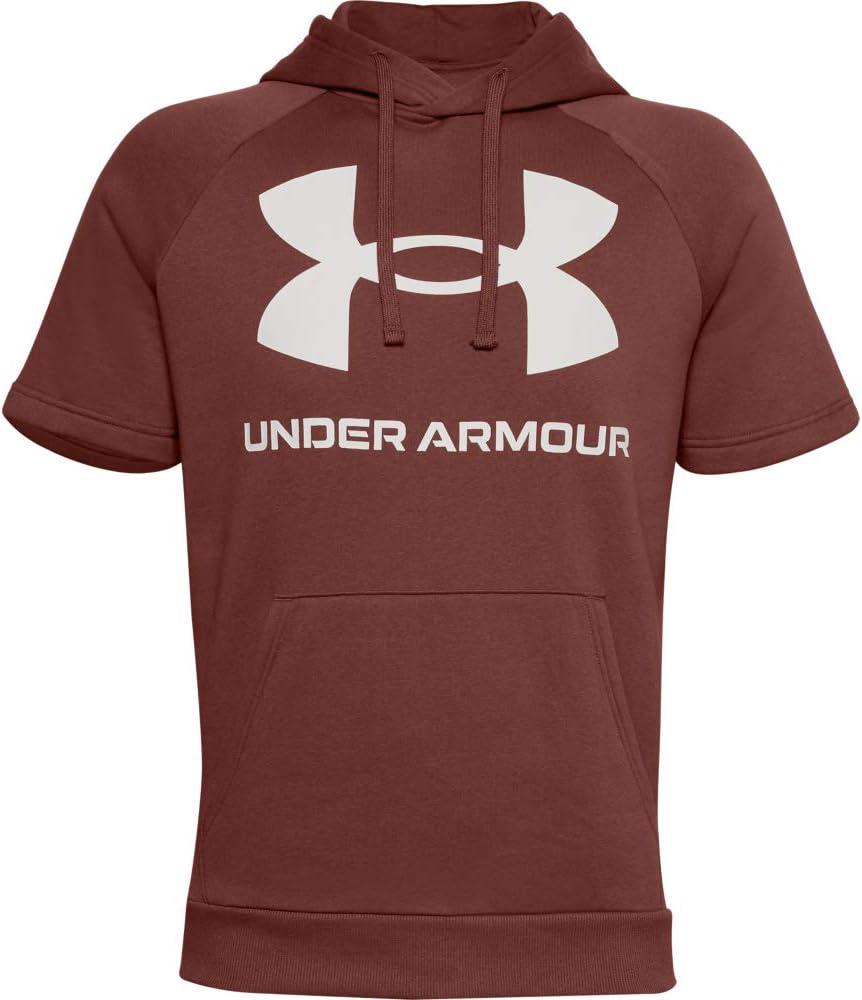 Under Armour Mens Rival Fleece Short Sleeve Hoodie Hoodie