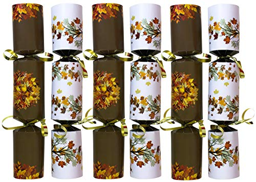 (Iconikal 9-inch Thanksgiving No-Snap Non-Popping Party Table Favor, Autumn Leaves, 6-Pack )