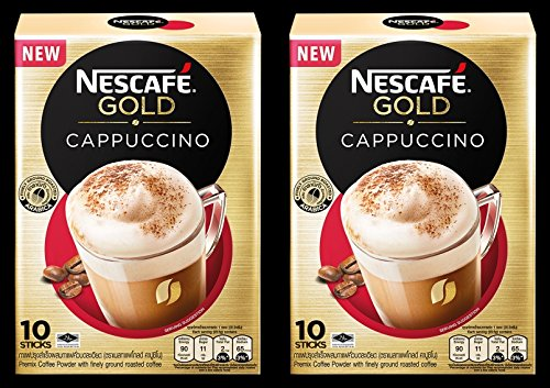 Nescafe Gold Cappuccino Instant Coffee 3 in 1 (Pack of 20 Sticks) Temptingly Creamy, Full Bodied, Roasted, Balanced Blend. Ship with Tracking Number.