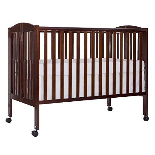Dream On Me Full Size 2 in 1 Folding Stationary Side Crib, Espresso [並行輸入品]   B01K1UR8XK