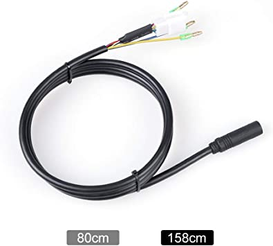Junstar-EU Cable de extensión de Motor de Rueda de 9 Pines para ...