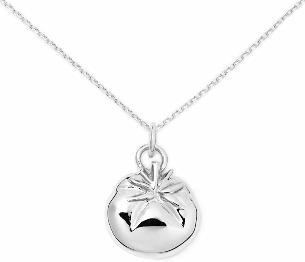 Delicacies Tomato Sterling Silver Necklace, Food Jewelry for Food Lovers, Chefs, Cooks and Epicureans