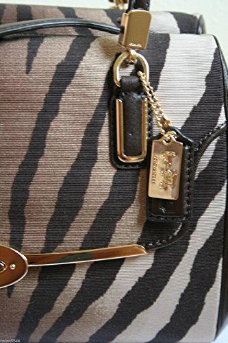 Print Zebra East Madeline Fabric Satchel West Madison Coach Small In SqAwOx4F