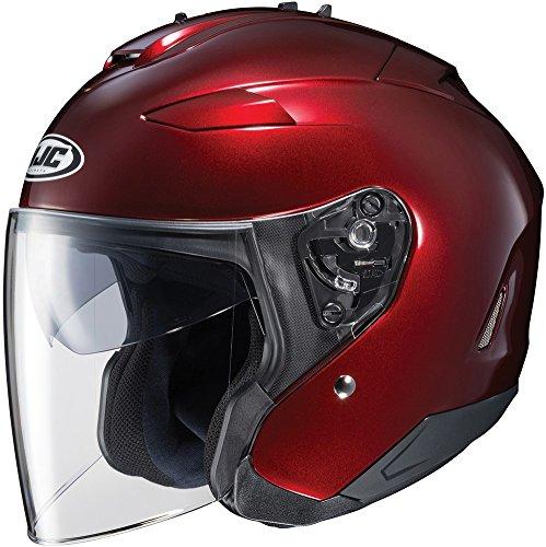 HJC IS-33 II Open-Face Motorcycle Helmet (Wine, Medium)