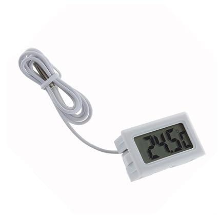 Aeoss Digital Mini LCD Temperature Thermometer with Probe Fridge Freezer & Aquarium