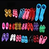 24Pcs=12Pairs Different Color Mix Shoes Boots For Barbie Dolls Hot