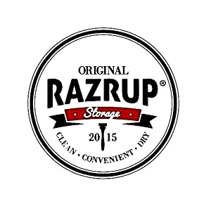 RazrUp - Razor Holder -.Where is Your Razor? Keep Your Razor Clean, and Extend its Life! Convenient Razor Shaving Accessory Turns any Shave Gel / Can into a Razor Holder!