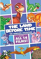 Journey to a land of wonder, friendship and enchantment with your favorite prehistoric pals in The Land Before Time: The Complete Collection featuring all 14 amazing animated adventures! From the very first movie launched by Steven Spielberg ...