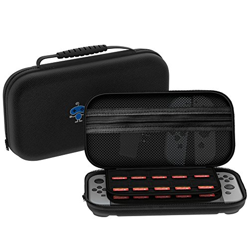 [29 Game Holder] Nintendo Switch Case Premium Quality Protective Portable Hard Carry Case Pouch for Nintendo Switch Console Accessories - Best Game Travel Case Black