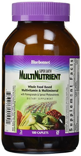 Bluebonnet Super Earth Multi-Nutrient Formula Iron Caplets, 180 Count by Blue Bonnet