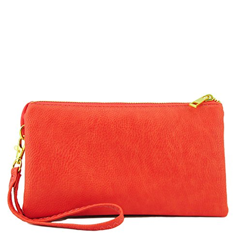 Basic Versatility Clutch Crossbody Bag Coral