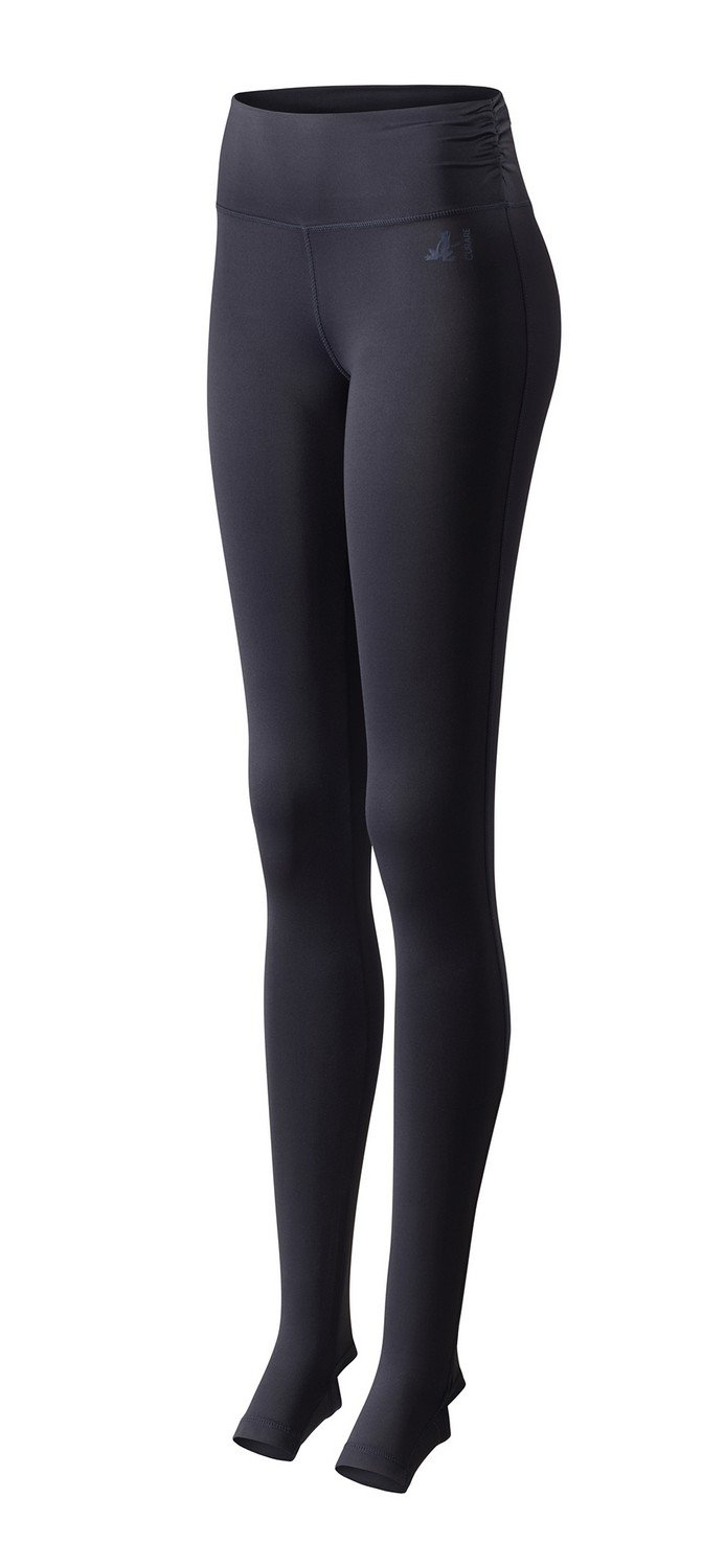 CURARE Damen Fersenschlitz Leggings, Midnight-Blau, M