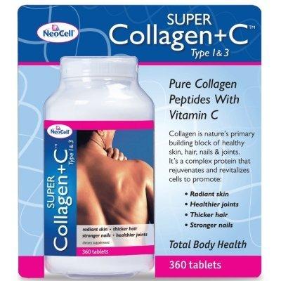 NeoCell super collagène de type I et III + vitamine C - 360 Comprimés