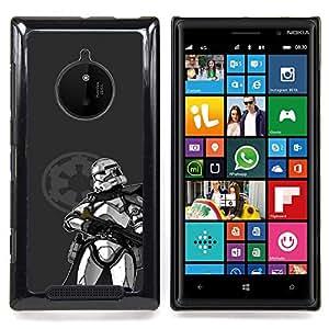 - Star Trooper - - Cubierta del caso de impacto con el patr??n Art Designs FOR Nokia Lumia 830 Queen Pattern